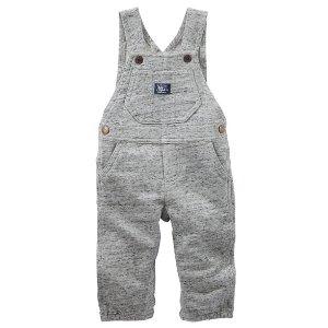 Baby Boy French Terry Overalls | OshKosh.com
