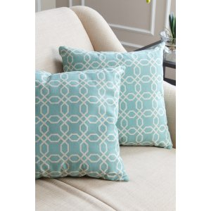 Avery Pillow Collection - Set of 2 - Teal Pattern