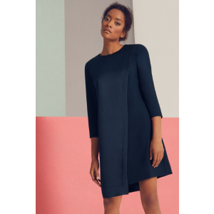 Asymmetric shift dress - Navy | Dresses | Ted Baker