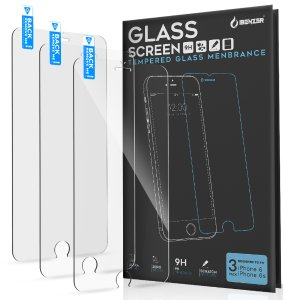 BOGOiBenzer iPhone 6S/6S Plus Tempered Glass Screen Protector (pack of 3)
