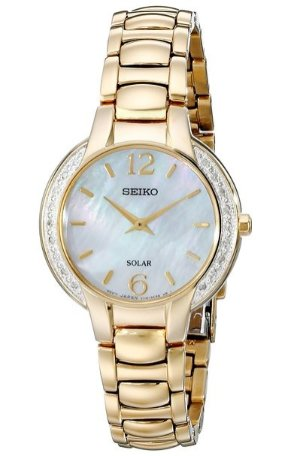 $109 Seiko Women's SUP258 Gold-Tone Stainless Steel Watch