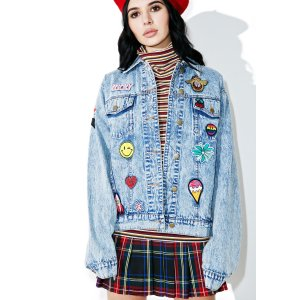 Scout Patch Denim Jacket | Dolls Kill