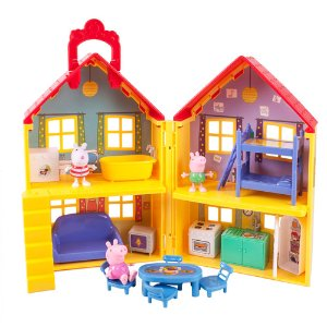Peppa Pig Peppa's Deluxe House Play Set with 3 Figures - Walmart.com