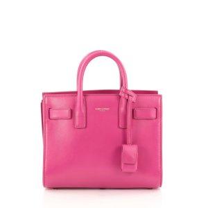pink Leather SAINT LAURENT Handbag - Vestiaire Collective