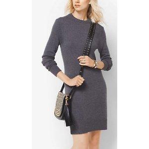 MICHAEL MICHAEL KORS Tie-Back Wool-Blend Dress
