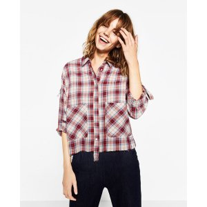 CHECK SHIRT - COLLECTION-SALE-WOMAN | ZARA United States