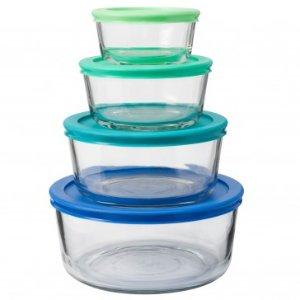 Anchor Hocking 8pc Round Glass Food Storage Set, Assorted Lids - Food Storage Sets - Food Storage - Storage & Organization