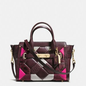 COACH Designer Handbags | Canyon Quilt Coach Swagger 27 In Exotic Embossed Leather