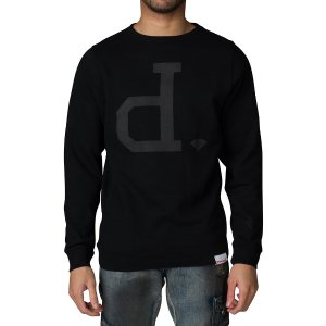 DIAMOND SUPPLY COMPANY TONAL UN POLO SWEATSHIRT - Black | Jimmy Jazz - A16DPE06-BLK