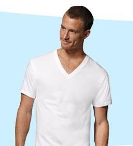 Hanes Men's V-Neck T-Shirts (Pack of 6)