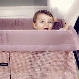 $167.96(原价$299.95)包邮BABYBJORN 轻便旅行婴儿床*粉色款