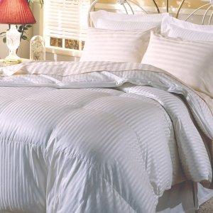 Hotel Grand Silk 400 Thread Count Premium White Goose Down Comforter - 913694 - Overstock.com Shopping - Great Deals on Hotel Grand Down Comforters