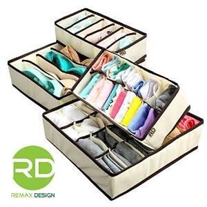 $10.99超低价!Remax Design 内衣袜子分类收纳盒 4个装