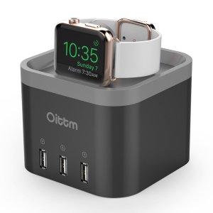 $13.50 Oittm Apple watch4 Ports  Smart Charging  Nightstand (Black)