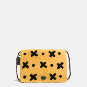 COACH: Felix Bag Of Tricks Dinky Crossbody 32 In Shearling