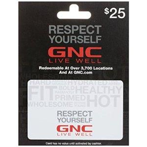 GNC Gift Card $25