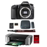 Canon EOS 80D 24.2 MP DSLR Camera Body w/ Pro 100 Printer/ Paper & CS100 1TB Hub