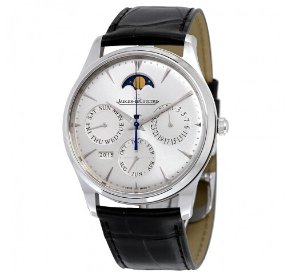 JAEGER LECOULTRE Master Ultra Thin Perpetual Silver Dial Men's Watch