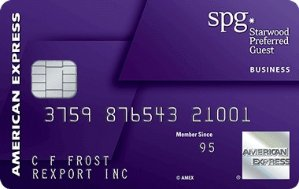 Earn 25,000 bonus Starpoints After Required Spend Terms ApplyStarwood Preferred Guest® Business Credit Card from American Express