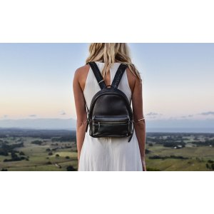 Small Black Leather Backpack by Beara Beara