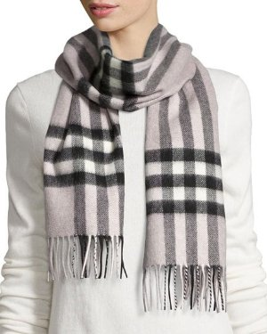Burberry Giant-Check Cashmere Scarf @ Neiman Marcus