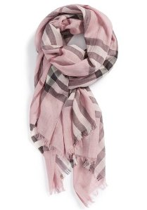 $296.25 Burberry Giant Check Print Wool & Silk Scarf @ Nordstrom