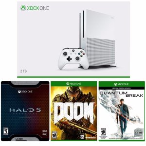 $399.99 xBox One S 2TB Console + Halo 5 Limited + Doom + Quantum Break