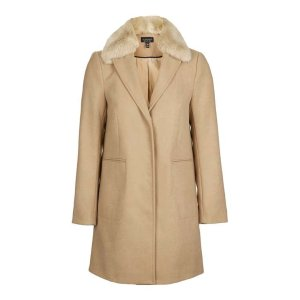 Fur Collar Boyfriend Coat - Sale - Sale & Offers - Topshop USA
