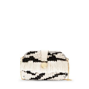 Louise et Cie Fae - Woven Fringed Clutch