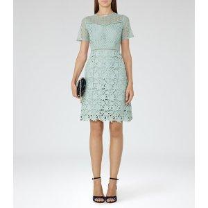 Heather Sage Lace Dress