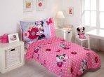 $29.99 Disney Minnie Mouse Bow Power 4-Piece Toddler Bedding Set