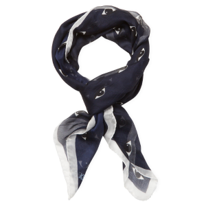 New Eyes Silk Long Scarf, 102