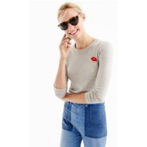 Tippi sweater with embroidered lips