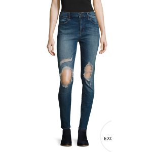 Maria High-Rise Distressed Skinny Jean by J Brand at Gilt