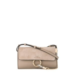 Chloe Mini Faye Wallet Bag Grey