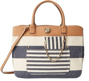 Tommy Hilfiger Lexi Woven Rugby Stripe Convertible Shopper
