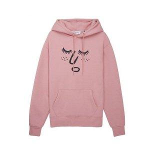 STEREO VINYLS [aw16 Jj X Sv] Face Fleece Hoodie(pink)