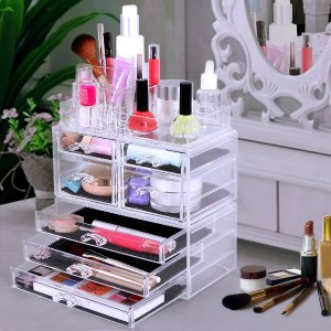 $23.79 SONGMICS Cosmetic/makeup Organizer Jewelry Chest Bathroom Storage Case 3 Pieces UJMU07T