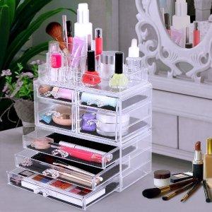 $23.79 SONGMICS Cosmetic/makeup Organizer Jewelry Chest Bathroom Storage Case 3 Pieces UJMU07T