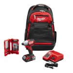 Milwaukee M18 18-Volt Lithium-Ion Brushless 1/4 in. Hex Impact Driver Kit with Backpack and Bit Set