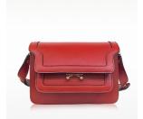 Marni Red Saffiano Leather Mini Trunk Bag at FORZIERI