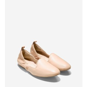 Tali Loafer Ballet Flats in Toasted Almond