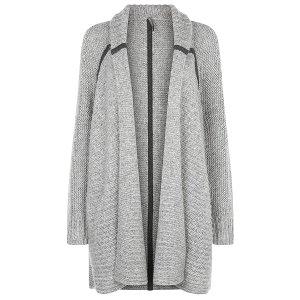 Maha Knitted Shawl - silvergreymarl | all tops | Sweaty Betty