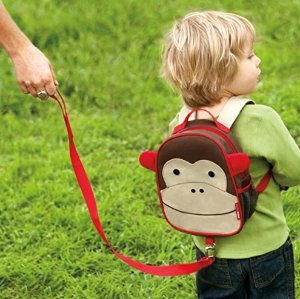 Skip Hop Zoo Little Kid & Toddler Safety Harness Backpack (Ages 2+), Multi, Livie Ladybug