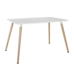 Modern Natural Wood Table | Wood Leg Dining Table - Sofamania
