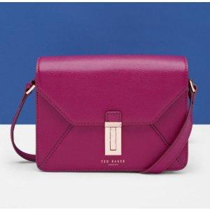Leather cross body bag - Grape