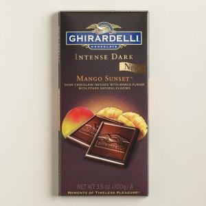 Ghirardelli Mango Sunset Intense Dark Chocolate Bar Set of 2 | World Market