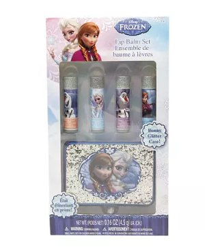 Disney Frozen Lip Balm with Glitter Case and 4 Flavors