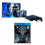 PS4 Slim 500 GB Uncharted 4 bundle + XCOM 2