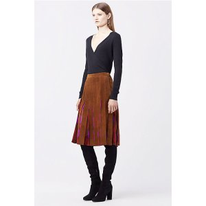 DVF MELITA SUEDE SKIRT   Landing Pages by DVF
